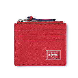 "HEAD PORTER - ""CAPRI"" CARD CASE RED"
