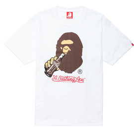 A BATHING APE - COCA COLA X BAPE APE HEAD TEE