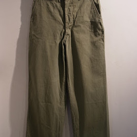 vintage - 40'S US NAVY HBT Trousers