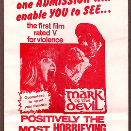 """Michael Armstrong - """"Mark Of The Devil"""" Official Barf Bag, 1970"""