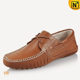 cwmalls - Leather Boat Stitched Driving Loafers for Men CW740106