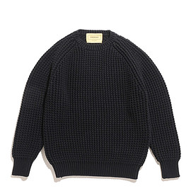 SEVEN BY SEVEN - Raglan Sleeve Knit-Cotton-Black