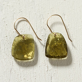 Green Tourmaline Drop Earrings