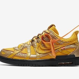 Off-White, Nike - OFF-WHITE x NIKE AIR RUBBER DUNK UNIVERSITY GOLD/UNIVERSITY GOLD/BLACK
