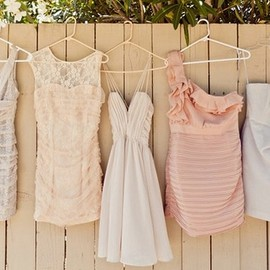 Perfectly missmatched bridesmaids dresses