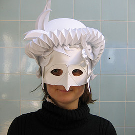 Polly Verity - paper mask