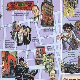 Queens Jazz Trail map, walking tour guide
