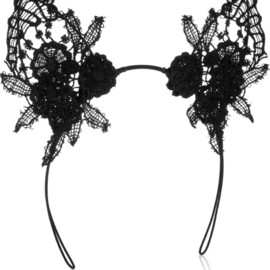 MIMI HOLLIDAY BY DAMARIS - Lace cat ear headband