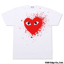 PLAY COMME des GARCONS - RED CELEBRATION HEART TEE