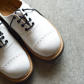 Tricker's - White Suede Oxford M7401