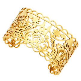 KAREN WALKER - Medium Filigree Cuff - Gold