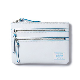 "HEAD PORTER - ""CAPRI"" TRAVEL POUCH WHITE"