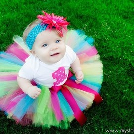 KirrasBoutique - The Funky Monkey Birthday Tutu Set Includes tutu, shirt and headband with flower clip or bow-Great for Birthdays