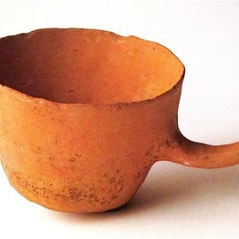 Isamu Noguchi / イサム・ノグチ - Tea Cup prototype Terra-cotta 1950-60