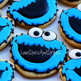 LoneStarsandStripes - cookie monster cookies
