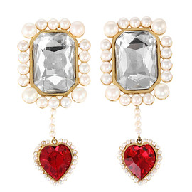 PAMEO POSE - SWINGING HEART JEWEL EARRINGS