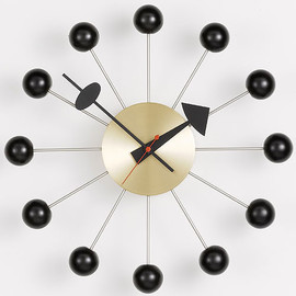 Vitra Nelson Ball Clock - Vitra Nelson Ball Clock Brass by George Nelson