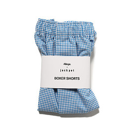 ALLEGE - Allege for jackpot THOMAS MASON BOXER SHORTS SAX CHECK