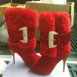 SUMMER RIO RED HIGH HEEL BOOTS