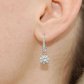 GRAFF - diamond round earrings