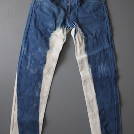 TENDER Co - TYPE 138 ROOFTOP WOAD DYED REVERSE TWILL STRAP-BACK JEANS