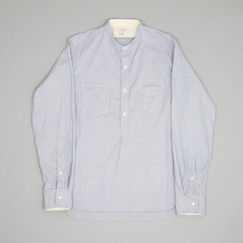 Sunny Sports - Stand Work Shirt in Light Blue and White