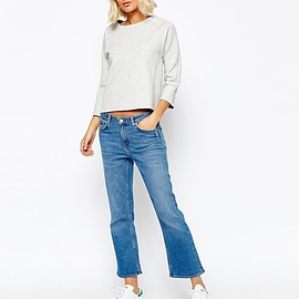Weekday - Cut Cropped Flare Jean