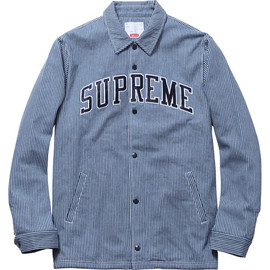 Supreme - Denim Coaches Jacket - Stripe Denim