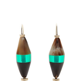 MARNI - FW2015 Colorblock Horn Earrings