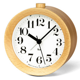 Lemnos - Riki Alarm Clock Natural/Brown