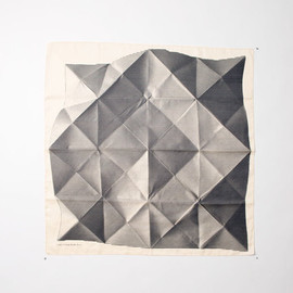 / - Link Collective scarf -Folded Paper Furoshiki by Lucinda Newton Dunn