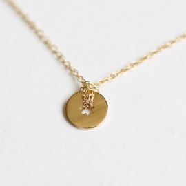 ginette ny - tiny open disc necklace