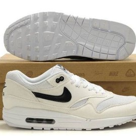 Nike Air Max 1 - Cheap Nike Air Max 1 Mens Running Shoes Beige White Black UK Sale