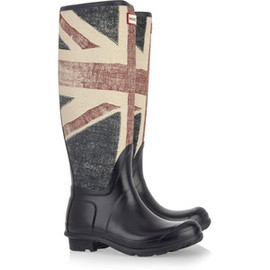 HUNTER -  Vintage Union Jack print Wellington boots