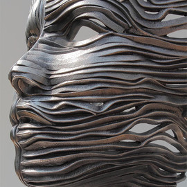 Gil Bruvel - Human Figures Composed of Unraveling Stainless Steel Ribbons