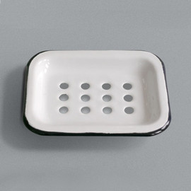 LABOUR AND WAIT - Enamel Soap Dish