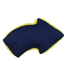 YELLOW HAMMER - ARROW CUSHION-NAVY