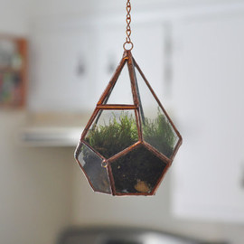 ABJ Glassworks - Hanging Teardrop Glass Terrarium