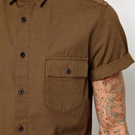 asos - Military Shirt In Short Sleeve