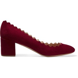 Chloé - Lauren scalloped suede pumps