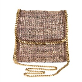 Stella McCartney - Gold Boucle Falabella cross body bag