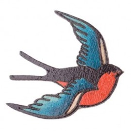 Tatty Devine - Swallow Brooch - single