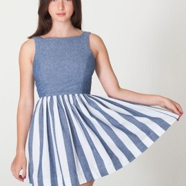 American Apparel - stripe chambray sun dress