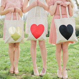 Alphabet Bags - Heart Tote Bag