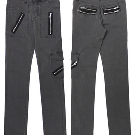 CHEAP MONDAY - CHEAP MONDAY(チープマンデー) ZIPPER TIGHT スキニーデニム【新品】 V LT BLACK 249-000183-601