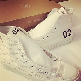 CONVERSE, White atelier BY CONVERSE - CANVAS ALL STAR COLORS HI ALL WHITE Customize