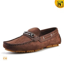 CWMALLS - Leather Driving Horsebit Loafers for Men CW740336