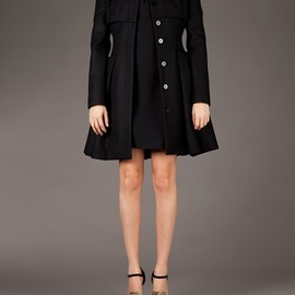 Alexander McQueen - flared coat