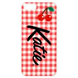 Katie - GINGHAM CHERRY LOGO for iPhone 5/5S