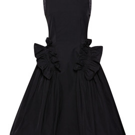 SIMONE ROCHA - Taffeta Twill Frill Pocket Dress